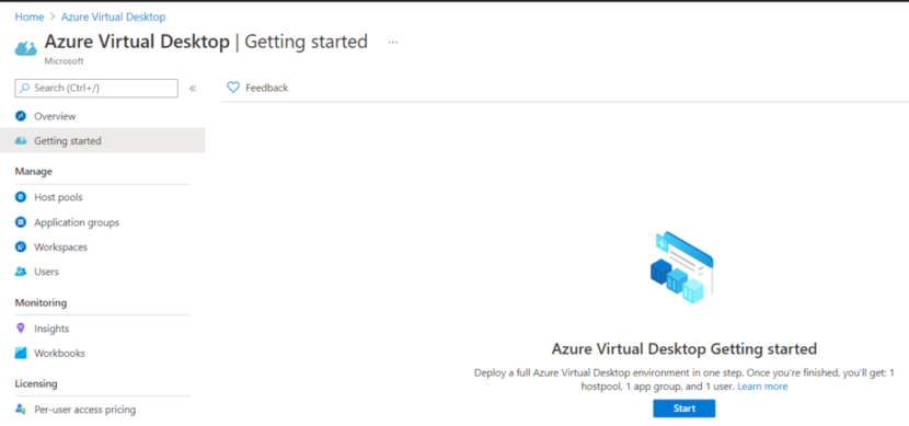 Azure virtual Desktop Getting Started walkthrough